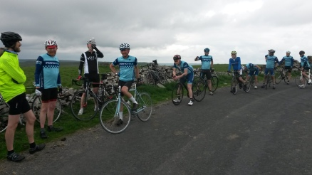 Regrouping at the top of Fleet Moss