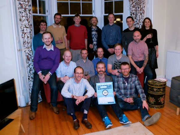 Portovelo regulars at Rob's leaving do, February 2015