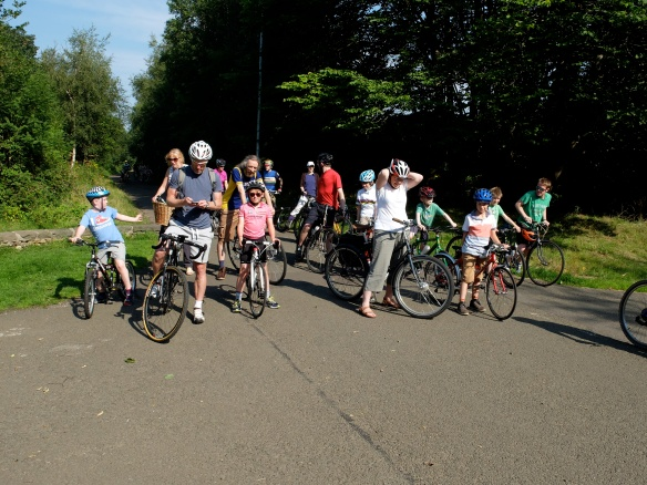 Family ride, August 2015, on the cycle path