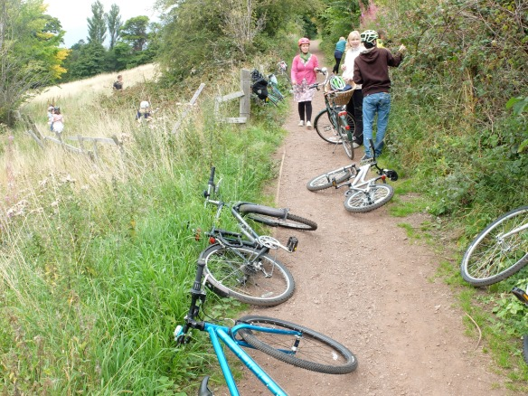Family ride, September 2015 - bramble picking