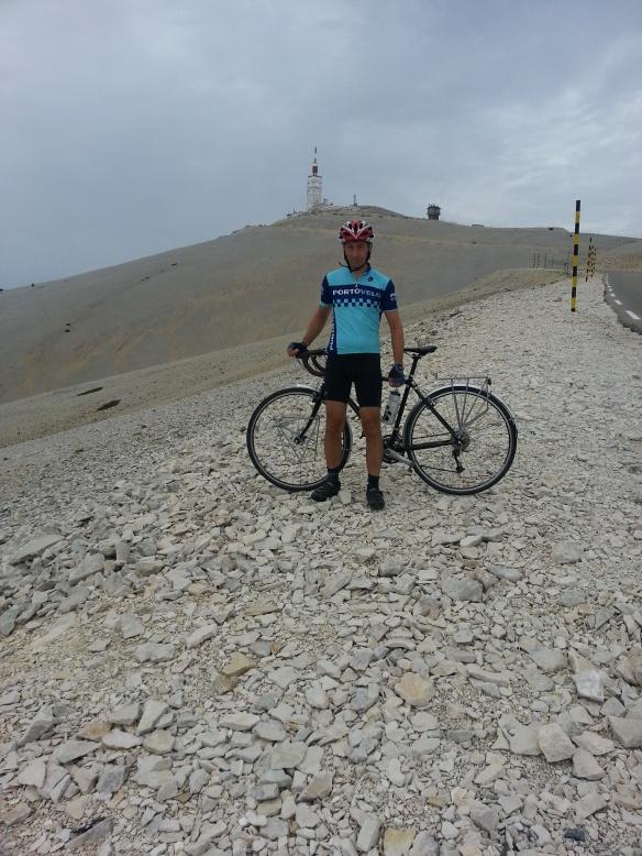 A Porto-velo jersey on Mont Ventoux