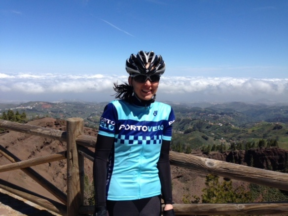 Harriet in her Porto-velo top, Gran Canaria 2014