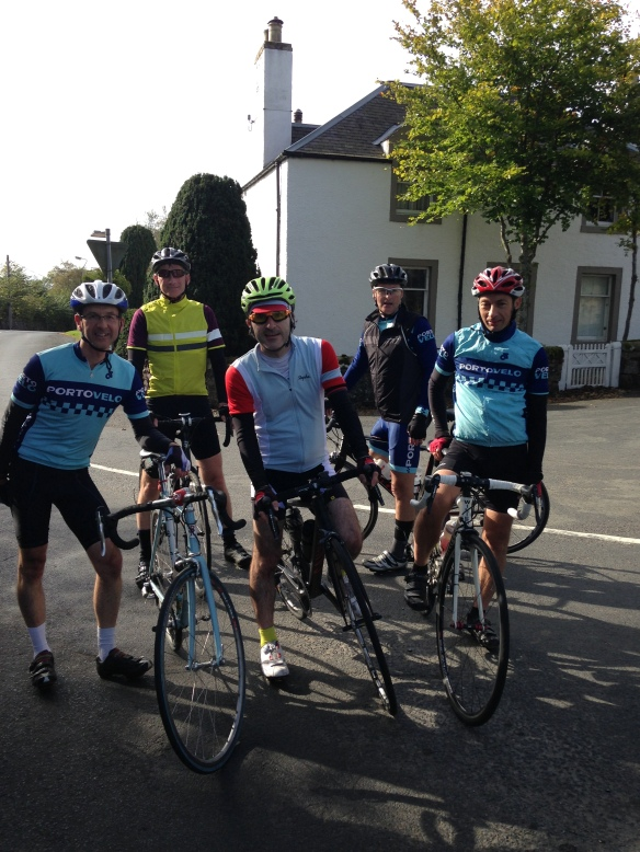 The century ride, October 2014 - Smailholm in the Borders.