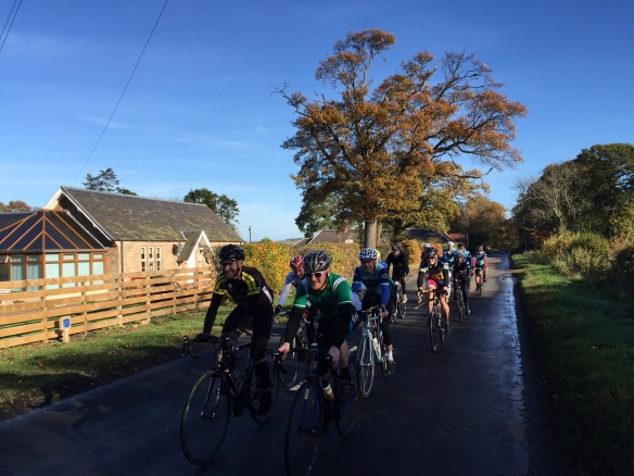 Autumn ride, 2015 - the peloton in East Lothian