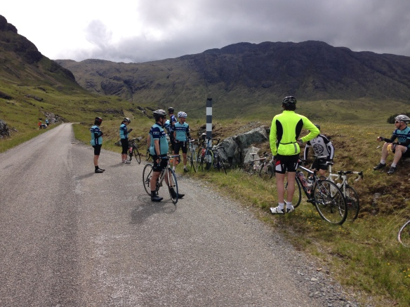 2015 Weekender - in Glen More, Mull, waiting by the roadside for a puncture
