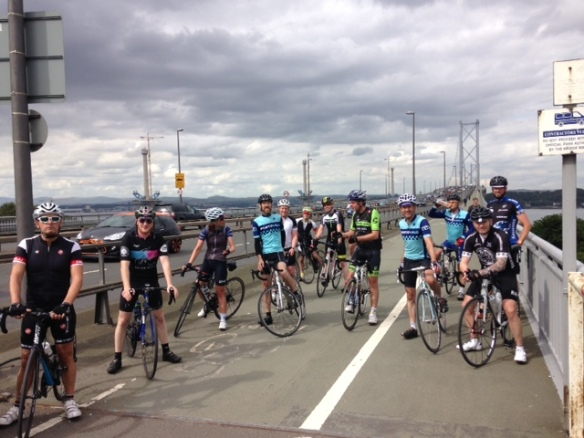 Century ride 2015 - over the bridge, and onto the home straight