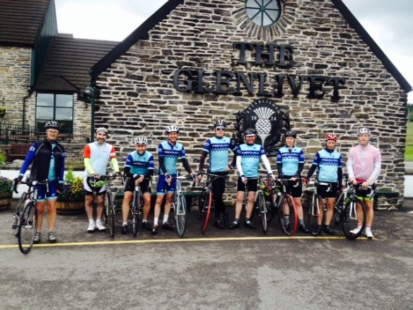 2014 Weekender - posing outside the Glenlivet distillery, Speyside