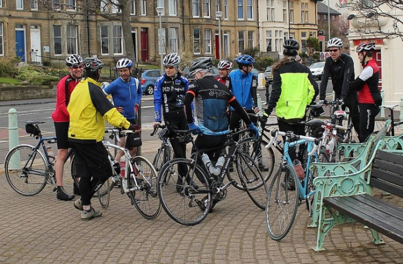 Inaugural ride - gathering at the Prom