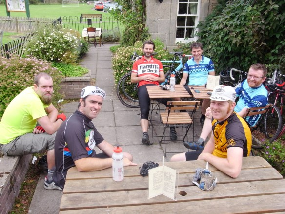 Cafe stop in West Linton, August 2012