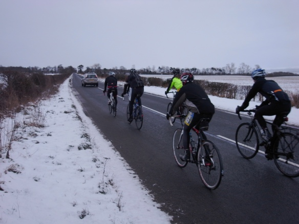 Sunday ride in winter conditions, 20 January 2013