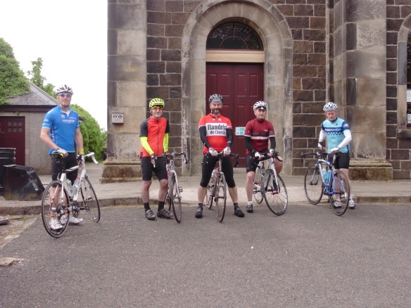 At Stirling YH, ready for the off, 1 June 2013