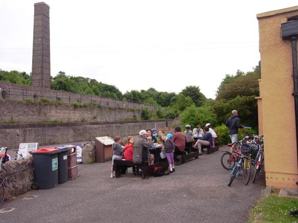 Family ride, June 2013 - tea stop at Prestongrange
